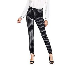 YanHoo-pantaloni Pantaloni Straight Donna,Matita Casuali Tasche Ufficio Pulsanti, Lunghi Casuali della Chiusura Lampo…