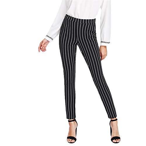 JMETRIC Damen Freizeithose |Jogginghose | Moderne Stoffhose|Gestreifte Hose| Casual Lange Hosen|Hosen hohe Taille -