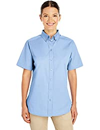 Ladies Foundation 100% Cotton Short-Sleeve Twill Shirt Teflono - BLACK - XS