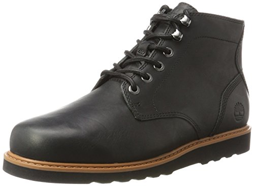 Timberland Herren Newmarket Lug Plain Toe Chukka Boots, Schwarz (Jet Black), 47.5 EU (Toe Plain Chukka)