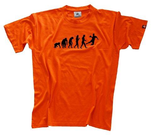 Shirtzshop Erwachsene Original Handball Evolution T-Shirt, Orange, XL