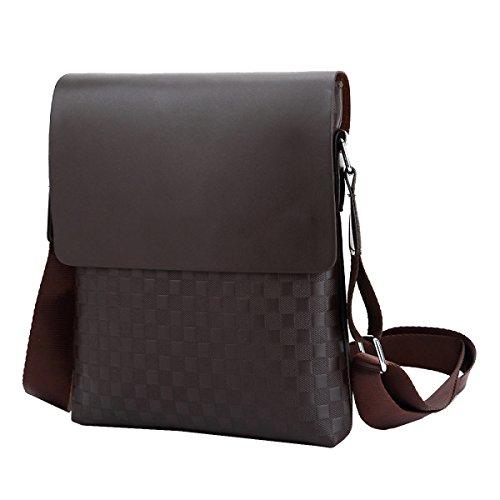 Yy.f Mucca Borse Spalato Bag Sezione Verticale Degli Uomini Sacchetto Del Messaggero Di Spalla Casuale Borsa Uomo Sacchetto Solido Pratico 2 Colori Brown