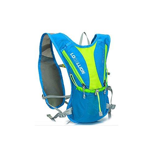 Trinkrucksack, Home-Neat Ultralight Laufrucksack, Fahrradrucksack 2L Trinkblase Pack , Ideal für Radsport, Laufen, Joggen ?Blau)