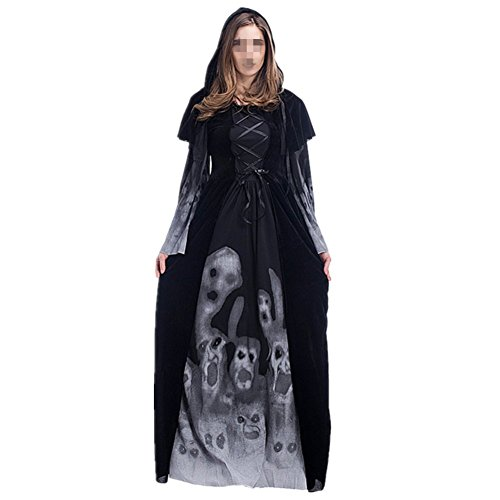 Disfraz de Bruja Mujer Cosplay Vampiresa novia cadaver Halloween