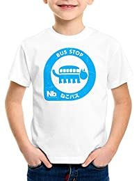 style3 Totoro Nekobus Station T-Shirt pour enfants stop neko mon voisin anime