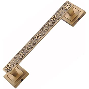 FAST Carving Zinc Door Handle (10-inch, Brass Antique)