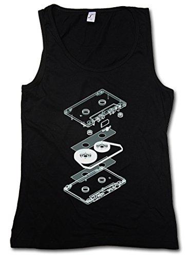 Explosion Audio Cassette Mujer Camiseta Sin Mangas Women Tank Top - Casete cassetta Retro Kassette MC Music Tape Player Tamaños S- 5XL
