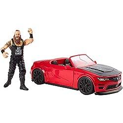 WWE- Wrekkin' Slam Mobile, Braun Strowman con Macchina Set da Gioco, Auto Distruttibile e Personaggio Articolato, GDC21