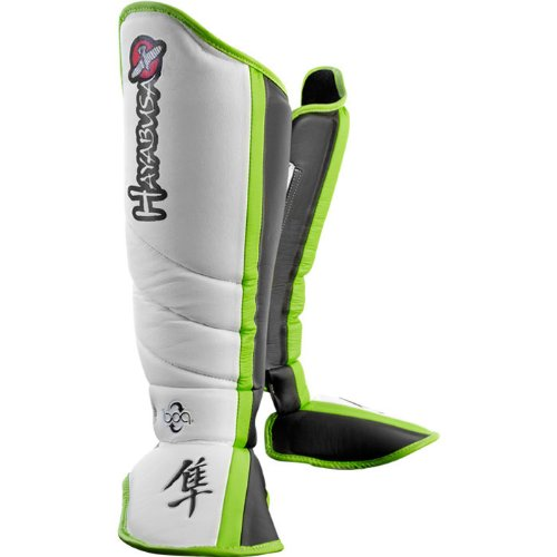 Hayabusa Mirai Series Shin Guards, White/Black, Medium (Guard Shin Hayabusa)