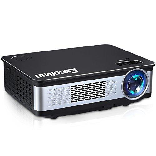 Excelvan Z720 proiettori 3300 Lumens 1280 * 768 1080P Supporto Video Multimedia Home Theater con HDMI USB SCHEDA SD VGA AV per Home Cinema, PC, iPhone e Smartphone Android, PS4 Camera con Cavo HDMI Cavo VGA Gratuito.
