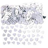 Konfetti Glänzende Herzen, silber, 14 g