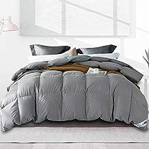 Umi. by Amazon - Daunendecke 200x200 cm Ganzjahres Daunen Decke Hypoallergen Daunen Bettdecke Steppdecke Grau