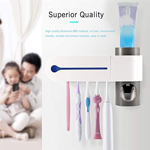 Ylmhe Ultraviolett Zahnbürste Sterilisator Automatik Zahnpasta Spender Reiniger Bürste Halter Einstellen Zum Bad Hotel -