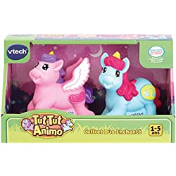 VTech- Coffret Duo ENCHANTE TUT ANIMO Jouets Premier Age, 80-242205, Multicolore