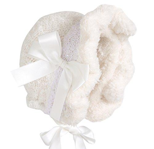 Hanakimi® freddo Royal cofano Handmade Bianco (neonato-3anni) (L/24m) White L/24 Mesi