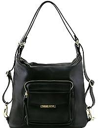 Tuscany Leather TL Bag - Bolso de señora en piel convertible en mochila - TL141535