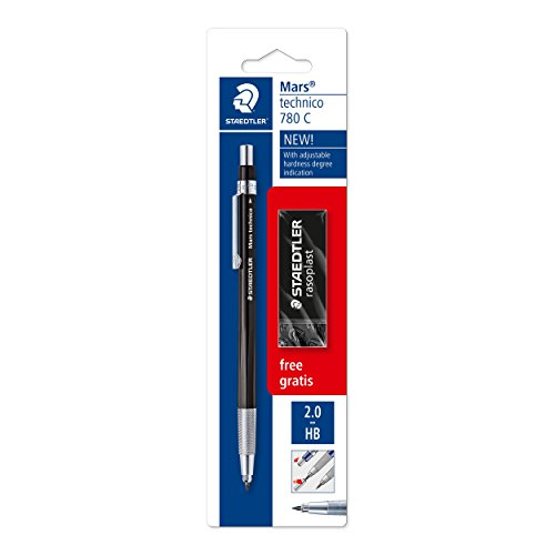 dcf0ead17e Staedtler 780 C BKP6 Mars Technico Clutch Pencil with Hardness Display, in  Promotion with an