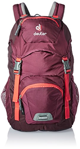 Deuter Junior, Zaino Unisex-Bambini, Rosso (Blackberry/Aubergine), 24x36x45 centimeters