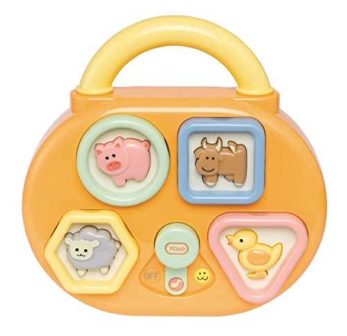 Tolo 80043 - Baby Animal Suono Shape Sorter - livellatrici sonori, 20 x 6,2 x 20 cm - Suono Shape Sorter