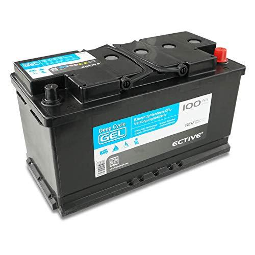 ECTIVE 100Ah 12V Gel Versorgungsbatterie EDC100 Deep Cycle Solar-Batterie VRLA Zyklenfest in 2 Varianten (wartungsfrei)