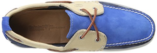 Timberland Earthkeepers Heritage 2 Eye Schuhe Herren Bootsschuhe Mokassins Blau 6936A, Größenauswahl:46 -
