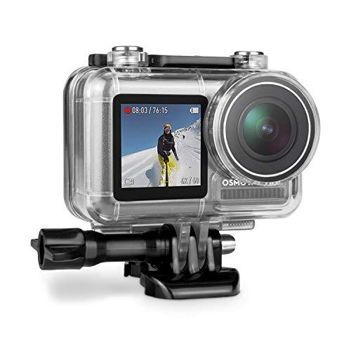 iTrunk Wasserresistente Schutzhülle Gehäuse Kompatibel für DJI OSMO Action Kamera Schwarz mit Schnellmontage Klammer zubehör für DJI OSMO Action Kamera -