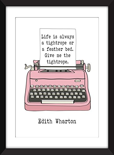 edith-wharton-life-is-always-a-tightrope-quote-unframed-print-edith-wharton-la-vida-es-siempre-una-c
