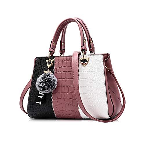 NICOLE & DORIS 2019 Neue Welle Paket Kuriertasche Damen weiblichen Beutel Handtaschen für Frauen Handtasche Rosa -