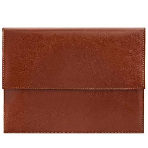 ROYALZ Leder Schutztasche für Microsoft Surface Pro 6-12,3 Zoll Sleeve Vintage Tasche Hülle Cover, Farbe:Cognac Braun