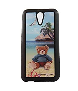 Exclusive 3D Design Effect Rubberised Back Case Cover For HTC DESIRE 620 Dual SIM/620G - Teddy Bear