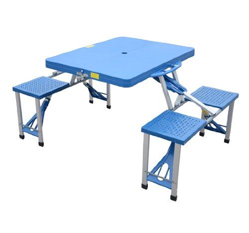 Tavolino da campeggio con 4 sedie