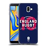 Head Case Designs Ufficiale England Rugby Union Numero 10 2018/19 Tipogragia Cover Morbida in Gel per Samsung Galaxy J6 Plus (2018)