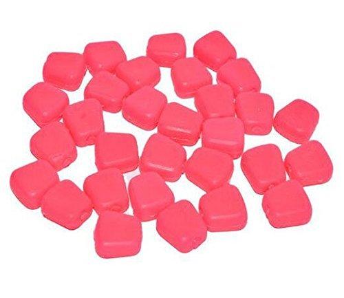 jshanmei® 100pcs/lot artificiale esche morbide, simulazione Buon odore mais Gusto orata Grain esche per pesca alla carpa esche esche, Pink (Pack of