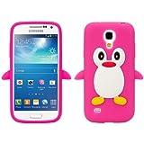 SKS Distribution® Heiß Rosa Samsung I9190 Galaxy S4 Mini Pinguin niedlichen Tier Silikonhülle Shell Beschützer Handy Smartphone Zubehör