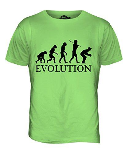 CandyMix Cricket Wicket Keeper Evolution Des Menschen Herren T Shirt Limettengrün