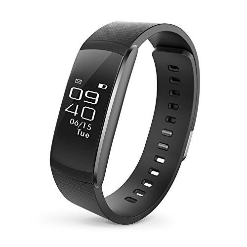 Runme Fitness Tracker, Braccialetto Smart con Monitor Sonno e Pedometro, Tracker Attività con Allerta SNS/SMS e Chiamate, Smartwatch con Protezione IP67 per Smartphone iOS e Android