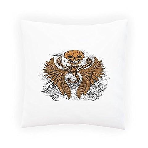 Scorpion, ailes avec crâne nouveauté drôle Taies d'oreillers décoratif, Housse de coussin avec insérer ou sans, 45x45cm hh62p