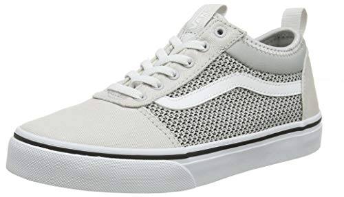 Vans Unisex-Kinder Ward Alt Closure Sneaker, Grau ((Mesh/Canvas) Gray/White U2o), 37 EU