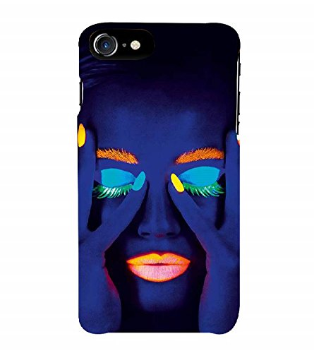 Nextgen Designer Mobile Skin for Apple iPhone 7 Plus (Logo View Window Case) (Face Gorgeous Girl In Dark Closed Eyes MAke Up)