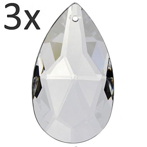4x Gocce forma sfaccettatura di cristallo pendplo 38mm sun catcher