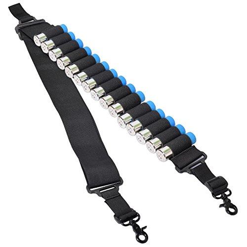 Taktisch 2 Punkt Schrotflinte Schlinge 15 Schale Munition Halter Bandeliere 12Ga mit Schnellverschluss und (Gewehr Gürtel Kostüm)