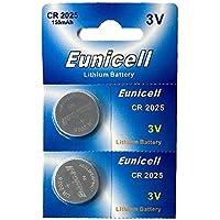 2 x Eunicell CR2025 3V Lithium Coin Battery Eunicell Deutschland