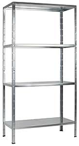 regal steckregal verzinkt metall 180x80x40cm regalsystem steckregalsystem 4 metall b den. Black Bedroom Furniture Sets. Home Design Ideas