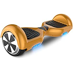 "Cool&Fun Hoverboard Patinete Eléctrico Scooter Monopatín Eléctrico Auto-equilibrio Patín de 6.5"" From SHOP GYROGEEK(Oro)"