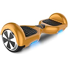 "Cool&Fun Hoverboard Patinete Eléctrico Scooter Monopatín Eléctrico Auto-equilibrio Patín de 6.5"" From SHOP GYROGEEK(Oro)"