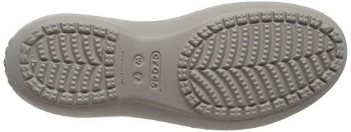 Crocs Ladies Kadee Slingback Donna Ballerine Grigio (platino)