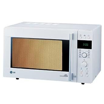 Lg - mc8090wh - Four à micro-ondes grill et chaleur tournante 32l 900w
