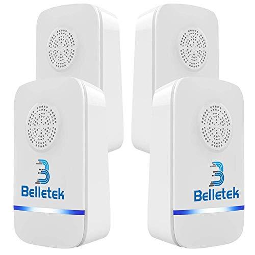 Belletek Répulsif Ultrason Anti-Rongeurs Insectes, Répulsif Électronique LED Lumière Nocturne, Anti Coquerelle...
