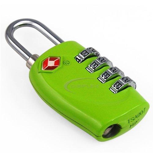 TRIXES 4-stelliges TSA-Zahlenschloss Vorhängeschloss für Gepäck, Tasche, Koffer - Hellblaue Grün