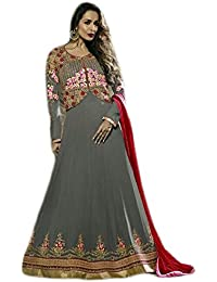 Anasha Fashions Bollywood Designer Latest Fashion Georgette Embroidered Party Wear Gown Style Salwar Suit - B077MH589N